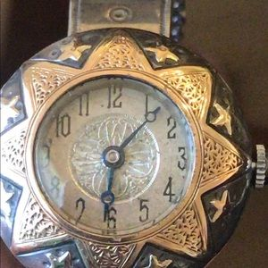 VTG 18K fill Sterling Silver HAFIS Watch $ firm